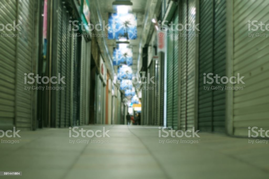 Shuttered shops in Japan stock photo
