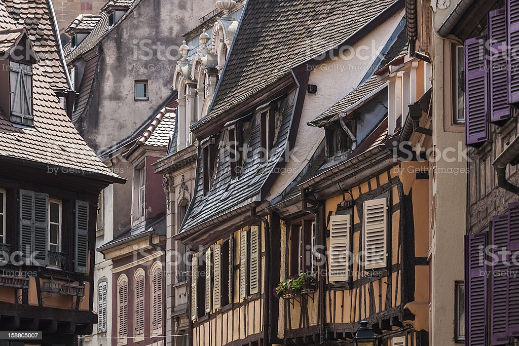 Shuttered windows - Colmar, France stock photo