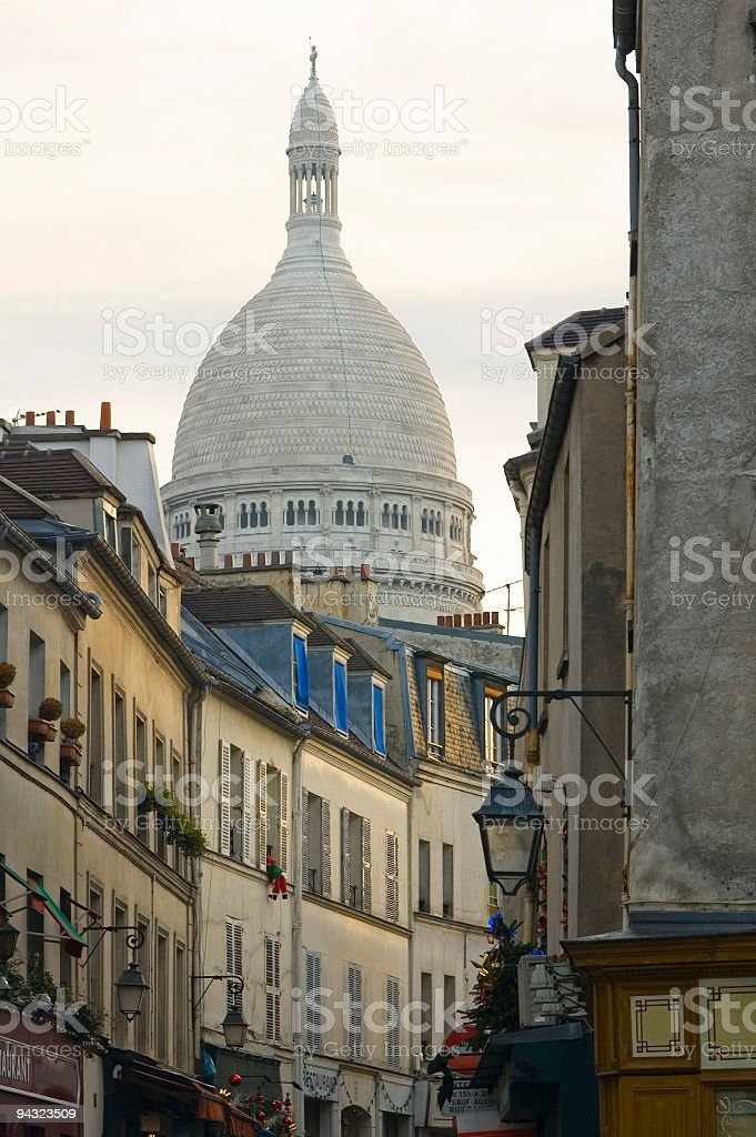 Shutters and Sacre Coeur, Paris royalty-free stock photo