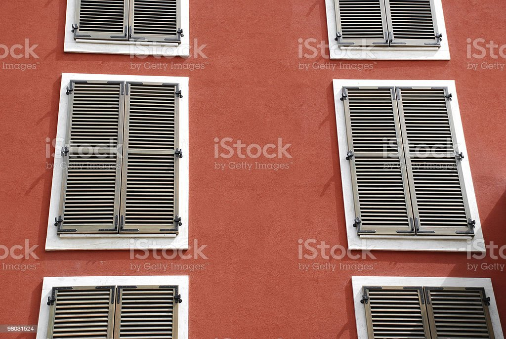 shutters on the windows royalty-free stock photo