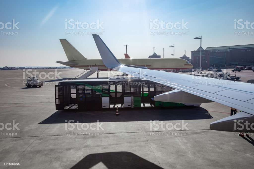 Shuttle Bus on Airport.