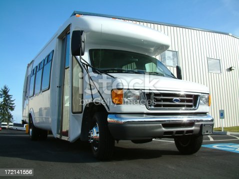 Wheelchair lift equipped Shuttle bus