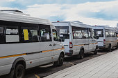 istock Shuttle buses at the bus stop 1183810015