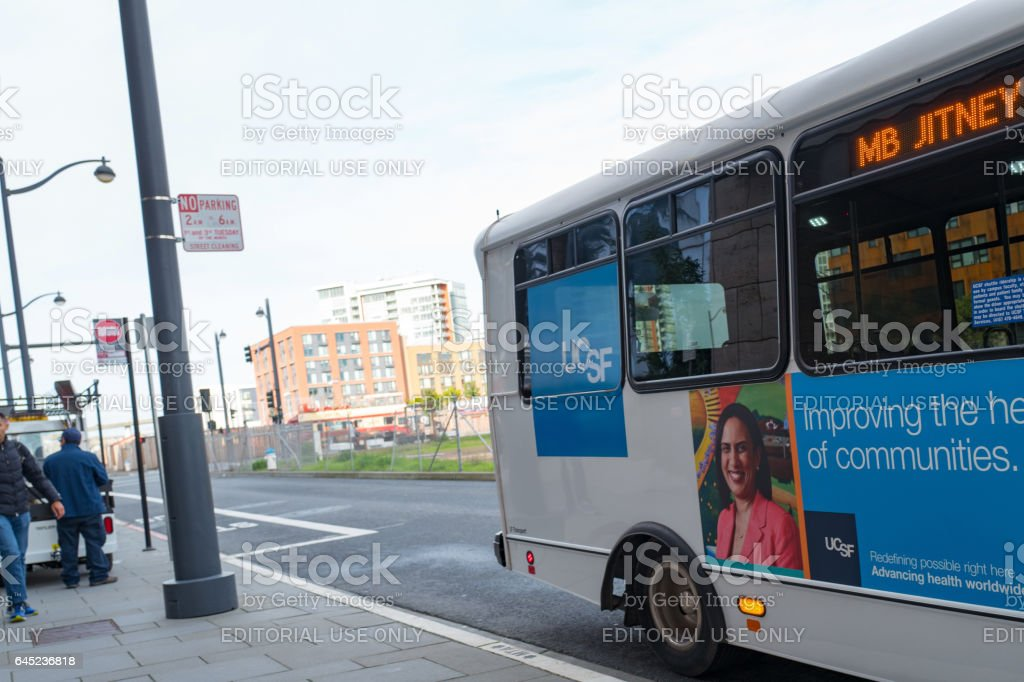 UCSF Shuttle stock photo