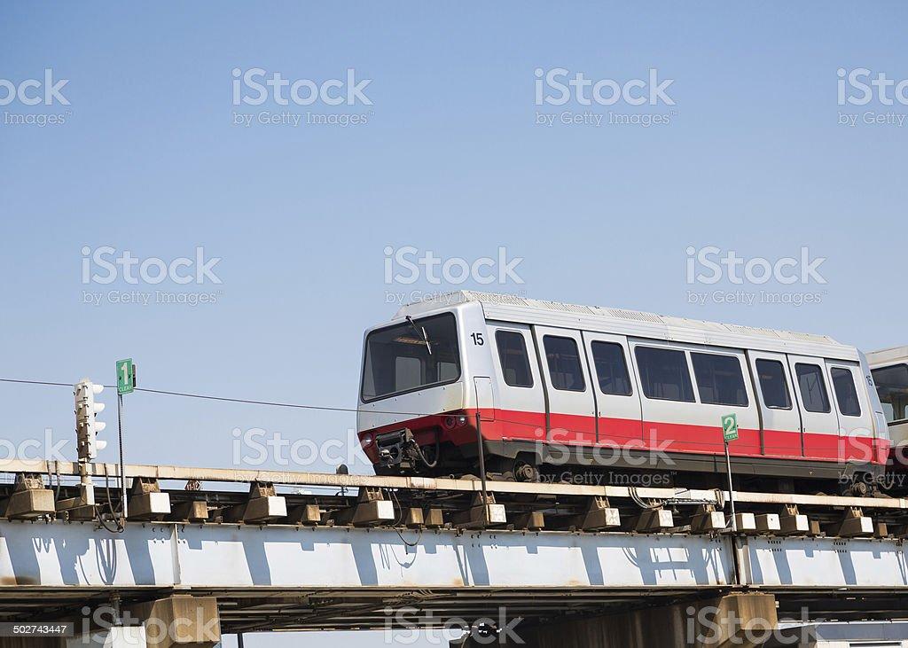 Shuttle Train Under Blue Sky stock photo