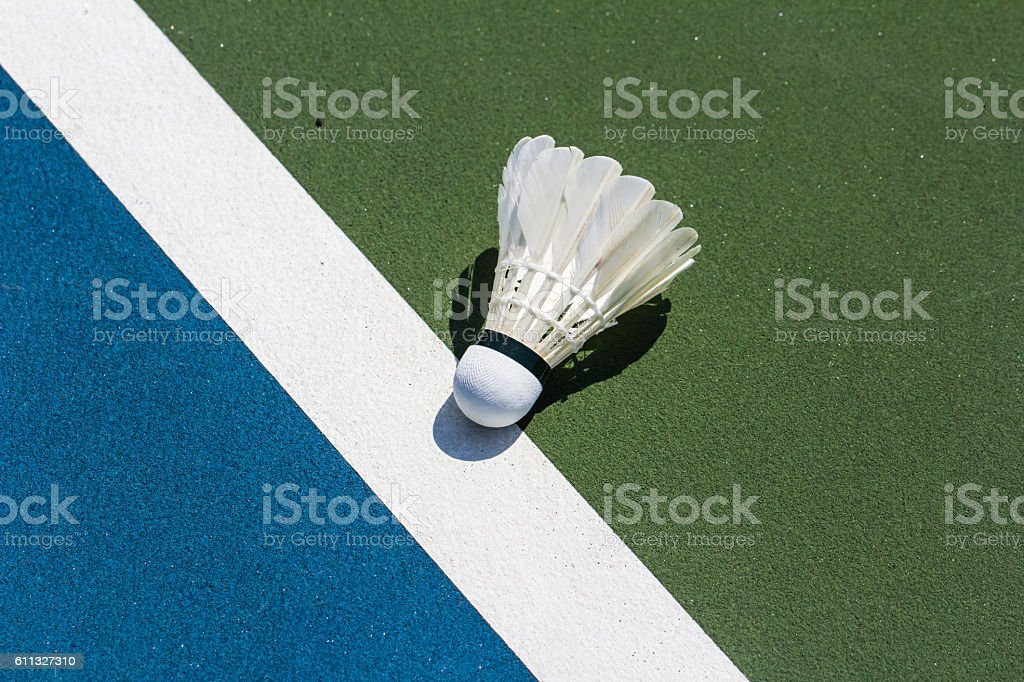 Shuttlecock badminton stock photo