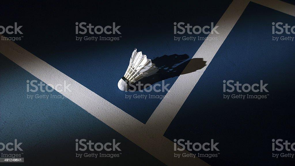 Shuttlecock in sunlight stock photo