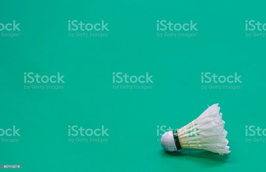 Shuttlecock stock photo