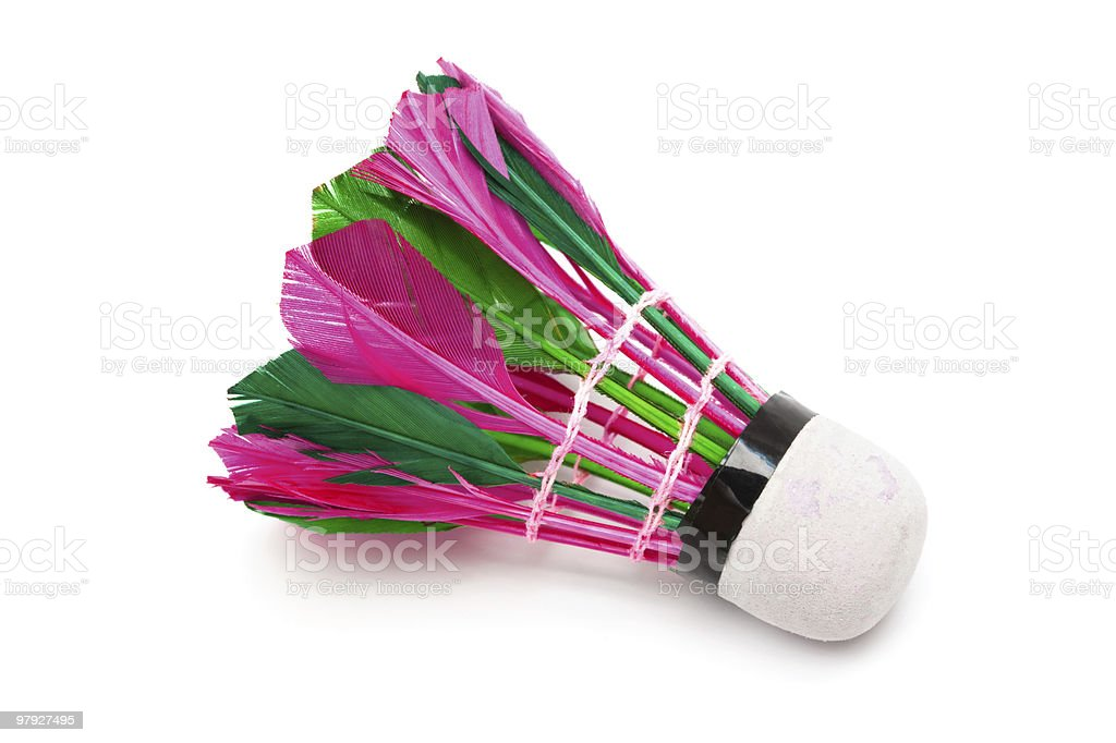 shuttlecock with feathers royalty-free stock photo
