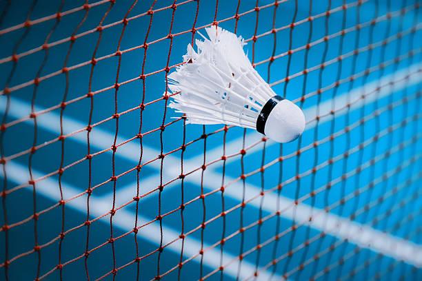 petecas encontrado na Internet em Quadra de badminton - foto de acervo