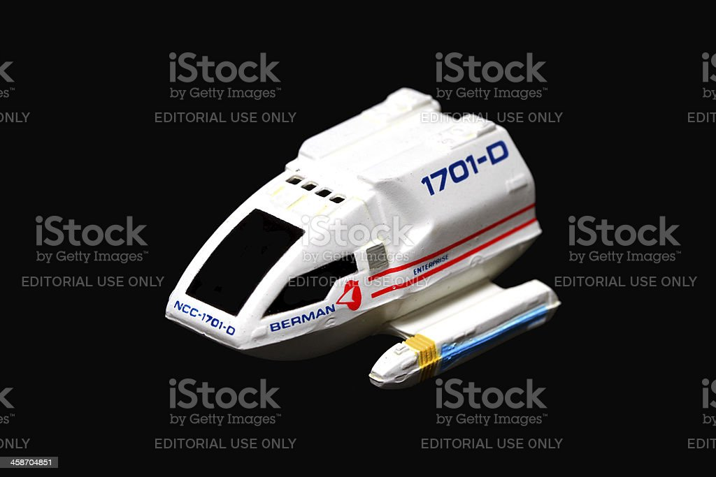 Shuttlecraft on Black royalty-free stock photo