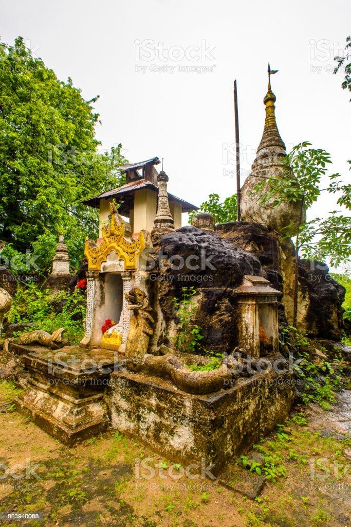 Shwe Ba Taung, a Buddhist site near Monywa, Myanmar. stock photo