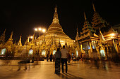 istock Shwedagon Pagoda at night 1210656068