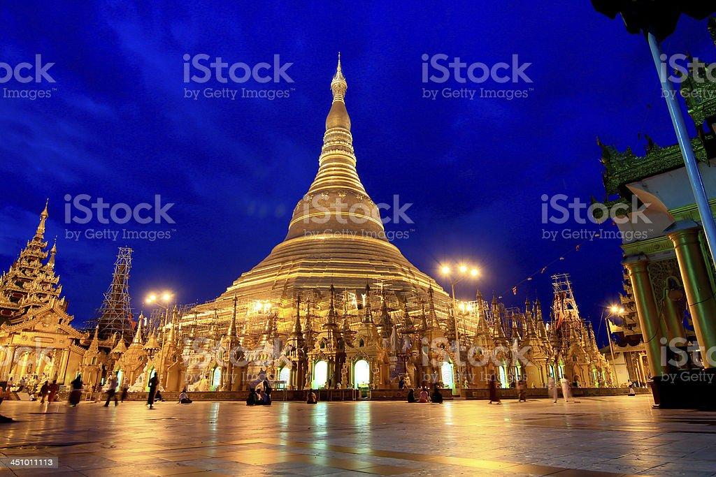 Shwedagon pagoda in Yagon, Myanmar royalty-free stock photo