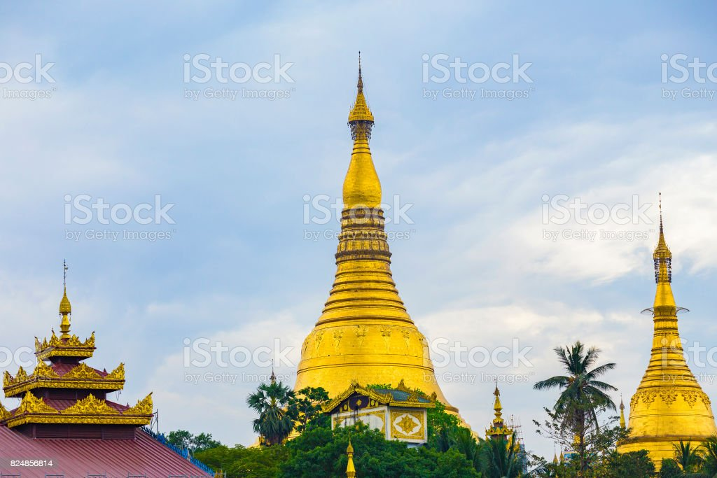 Shwedagon Pagoda of Myanmar stock photo