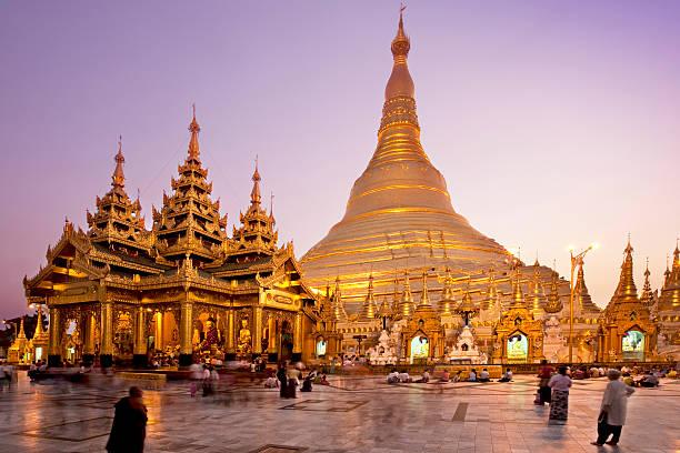 Shwedagon Pagoda Shwedagon Pagoda in Yangon - Myanmar myanmar stock pictures, royalty-free photos & images