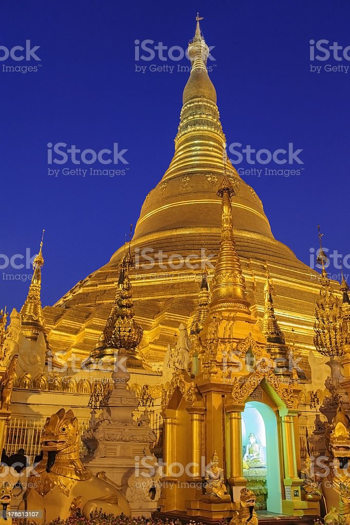 Shwedagon pagoda. royalty-free stock photo