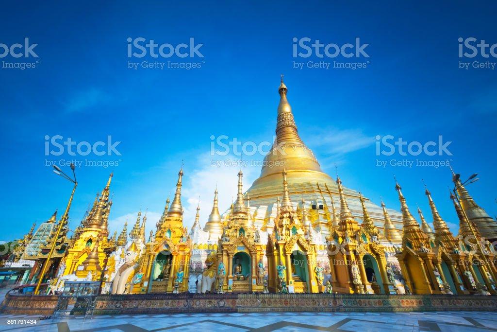 Shwedagon pagoda stock photo
