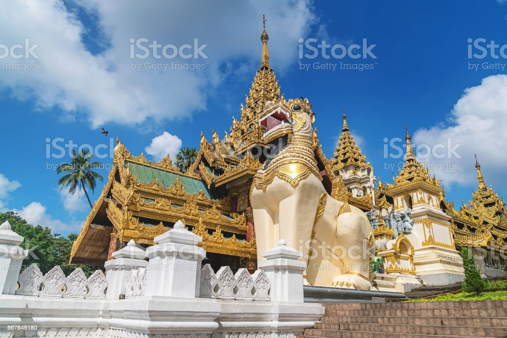 Shwedagon Pagoda South Entrance Yangon Myanmar stock photo