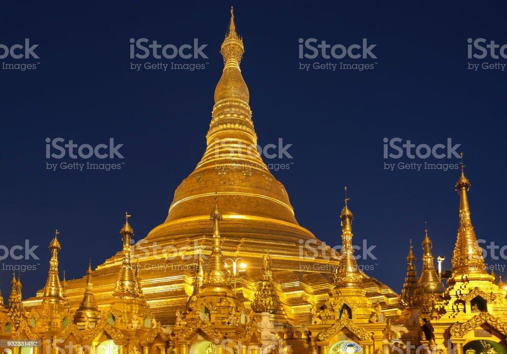 Shwedagon Pagoda  Yangon in Myanmar stock photo