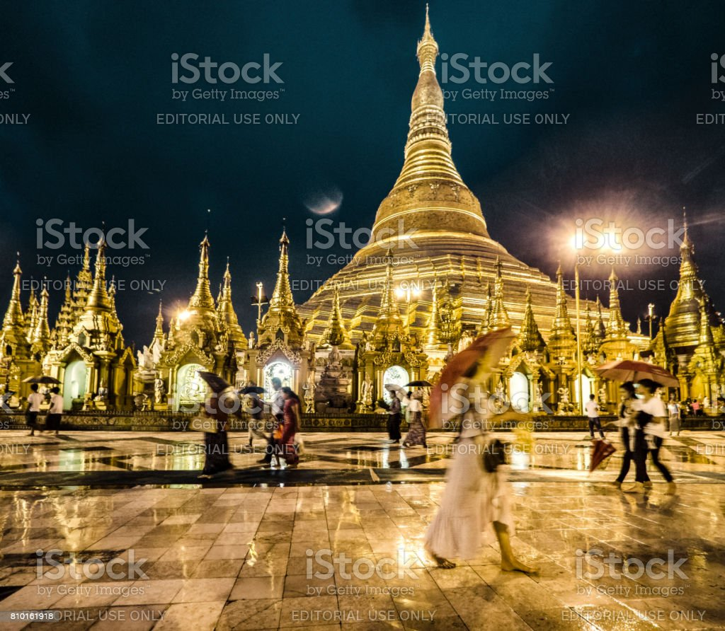 Shwedagon Pagoda Yangon Myanmar. stock photo