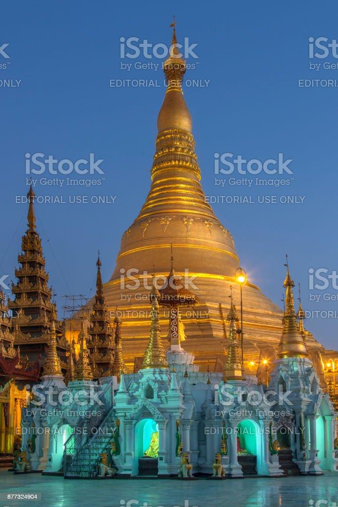 Shwedagon Pagoda - Yangon - Myanmar (Burma) stock photo