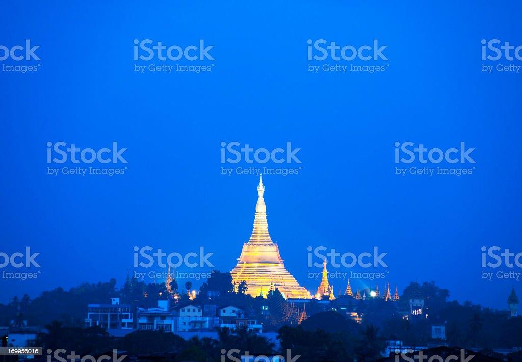 Shwedagon Pagoda, Yangon royalty-free stock photo