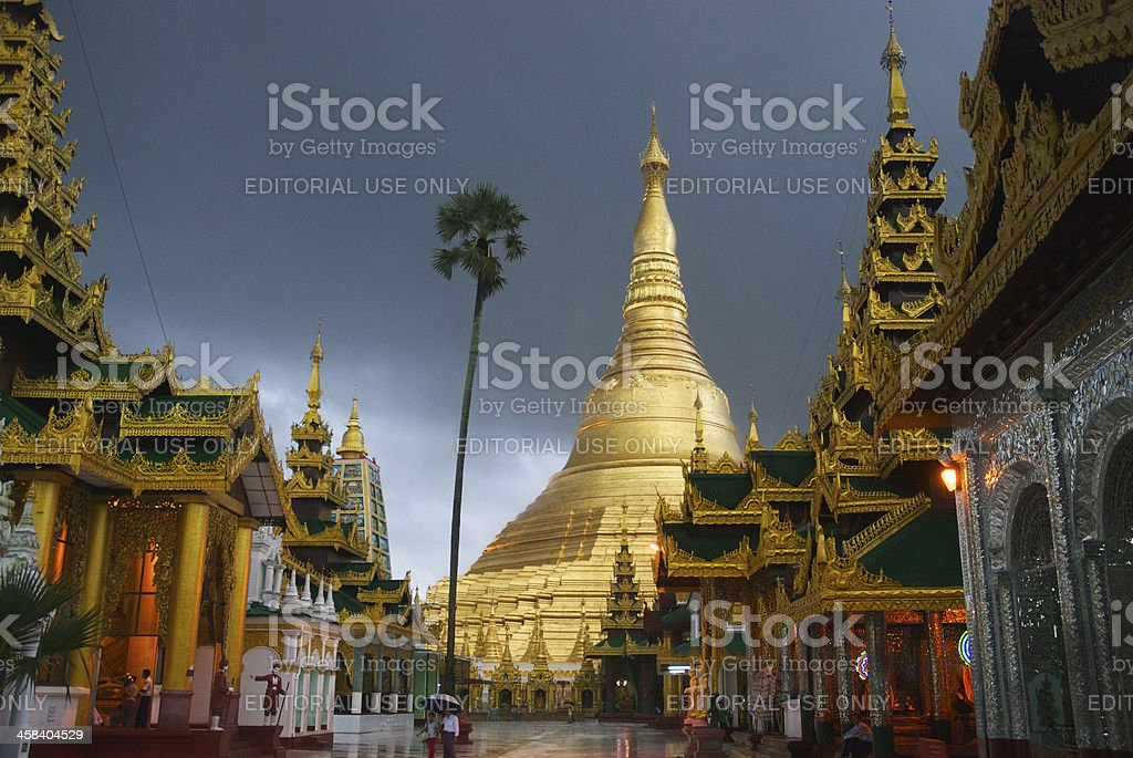 Shwedagon Pagoda, Yangon royalty-free stock photo