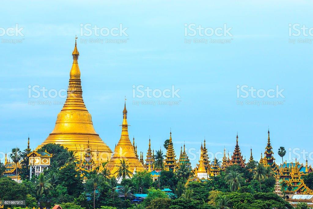 Shwedagon Paya Pagoda Myanmar stock photo