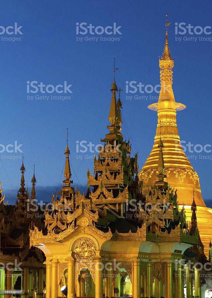 Shwedagon Paya, Yangon, Myanmar stock photo