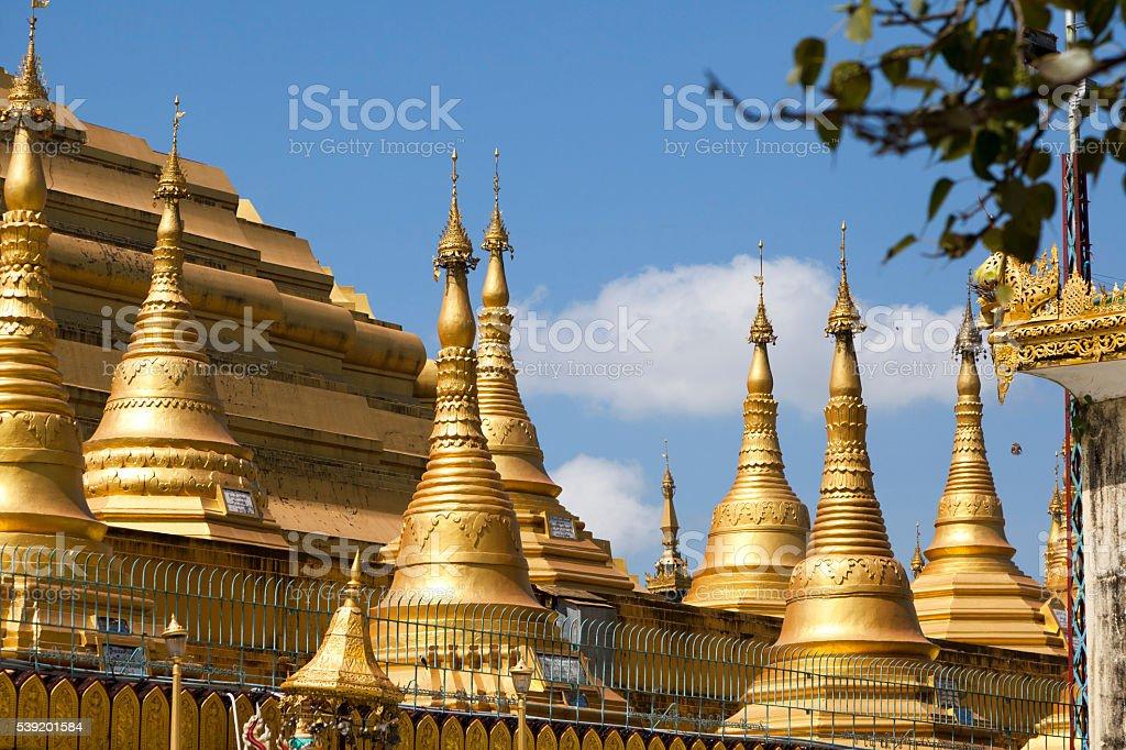 Shwemawdaw pagoda in Bago, Myanmar. stock photo