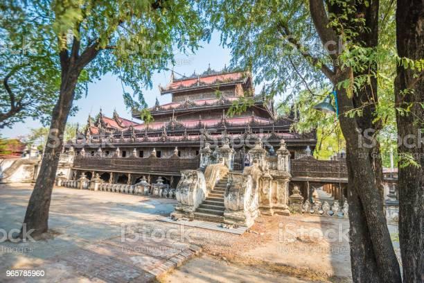Shwenandaw Golden Palace Monastery Mandalay - Fotografias de stock e mais imagens de Antigo