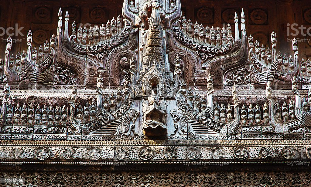 Shwenandaw Kyaung Temple stock photo