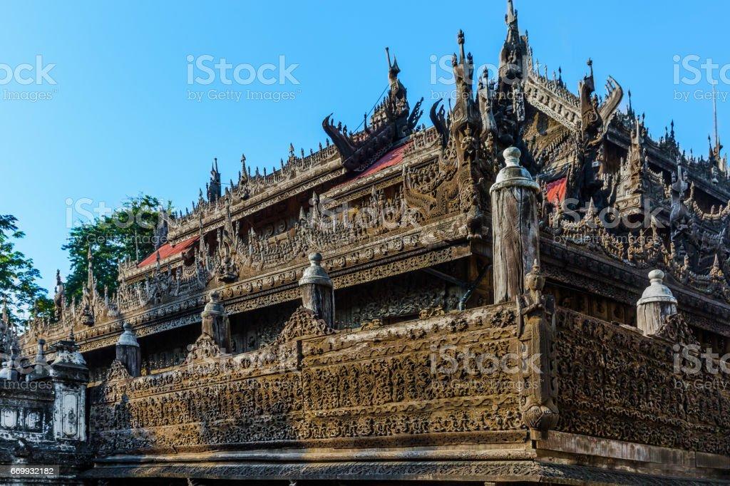 Shwenandaw Monastery Mandalay city Myanmar stock photo