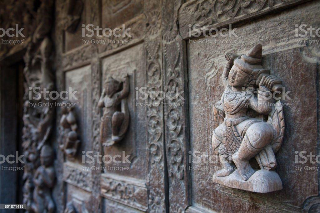 Shwenandaw Monastery, Mandalay, Myanmar stock photo