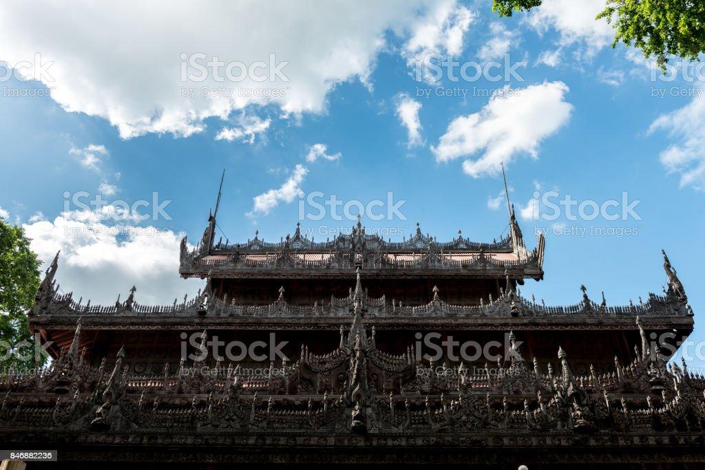 Shwenandaw Monastery stock photo