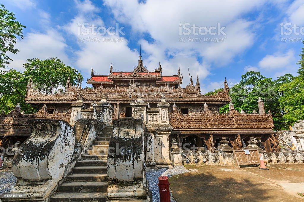 Shwenandaw Temple stock photo