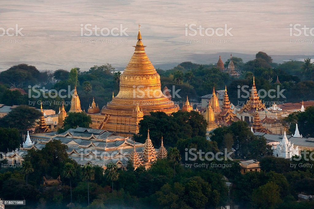 Shwezigon Pagoda - Bagan - Myanmar stock photo