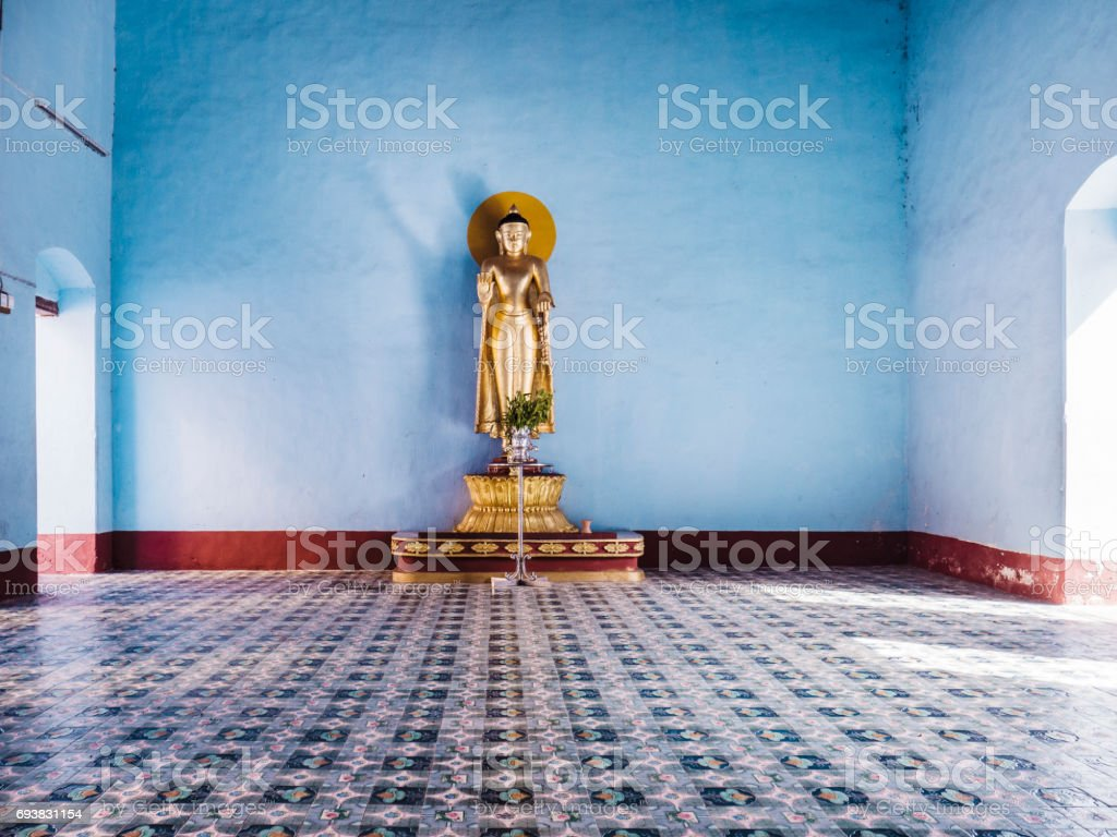 Shwezigon Pagoda Bagan Myanmar stock photo