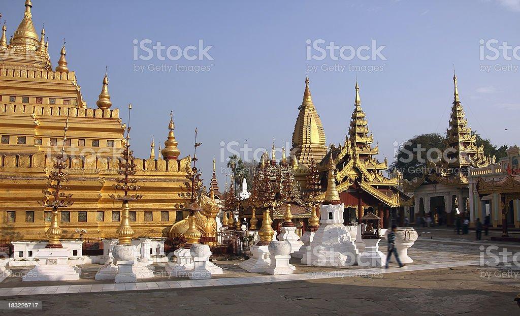 Shwezigon pagoda Bagan royalty-free stock photo