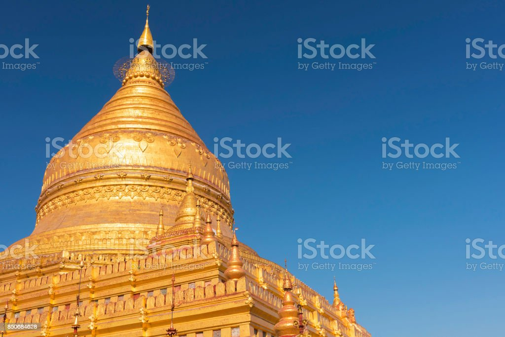 Shwezigon Pagoda stock photo