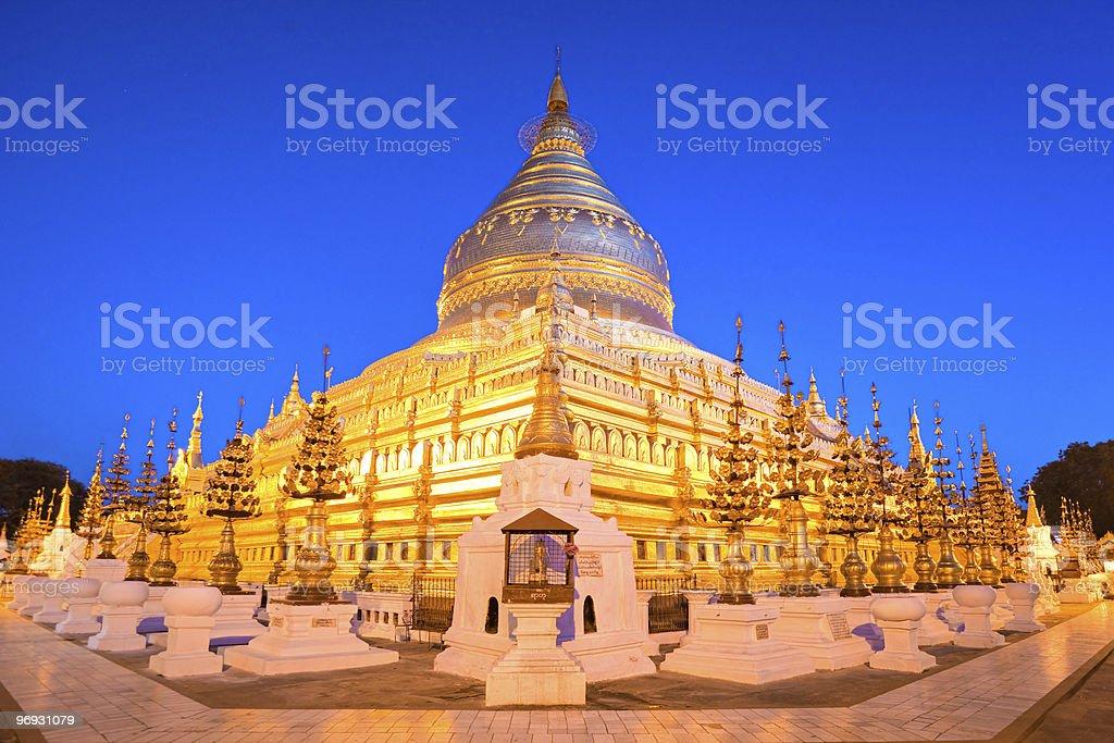Shwezigon Paya, Bagan. Myanmar. royalty-free stock photo