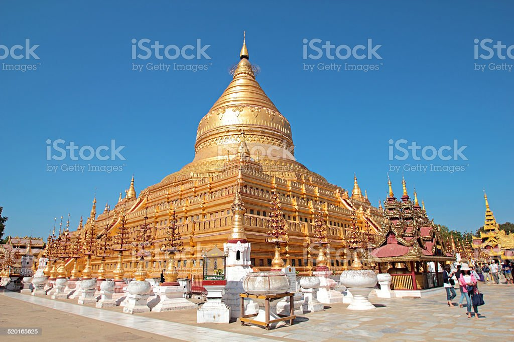 Shwezigon stock photo