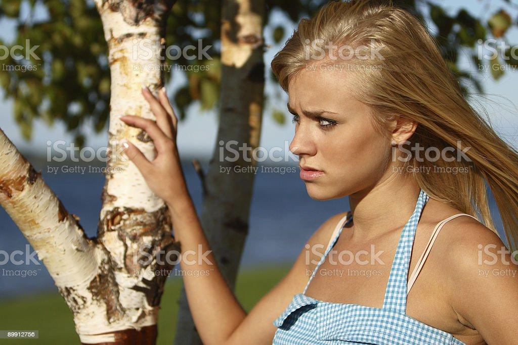 Застенчивый на закате Стоковые фото Стоковая фотография