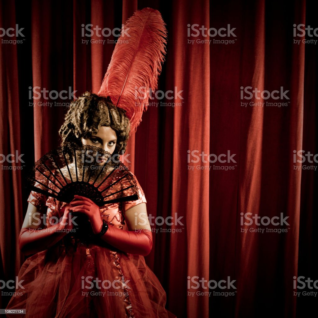 Shy Bearded Lady stock photo