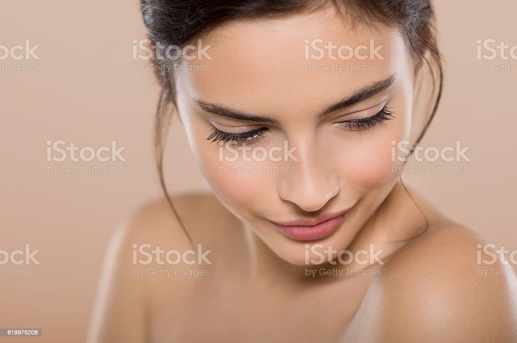 Shy beauty woman royalty-free stock photo