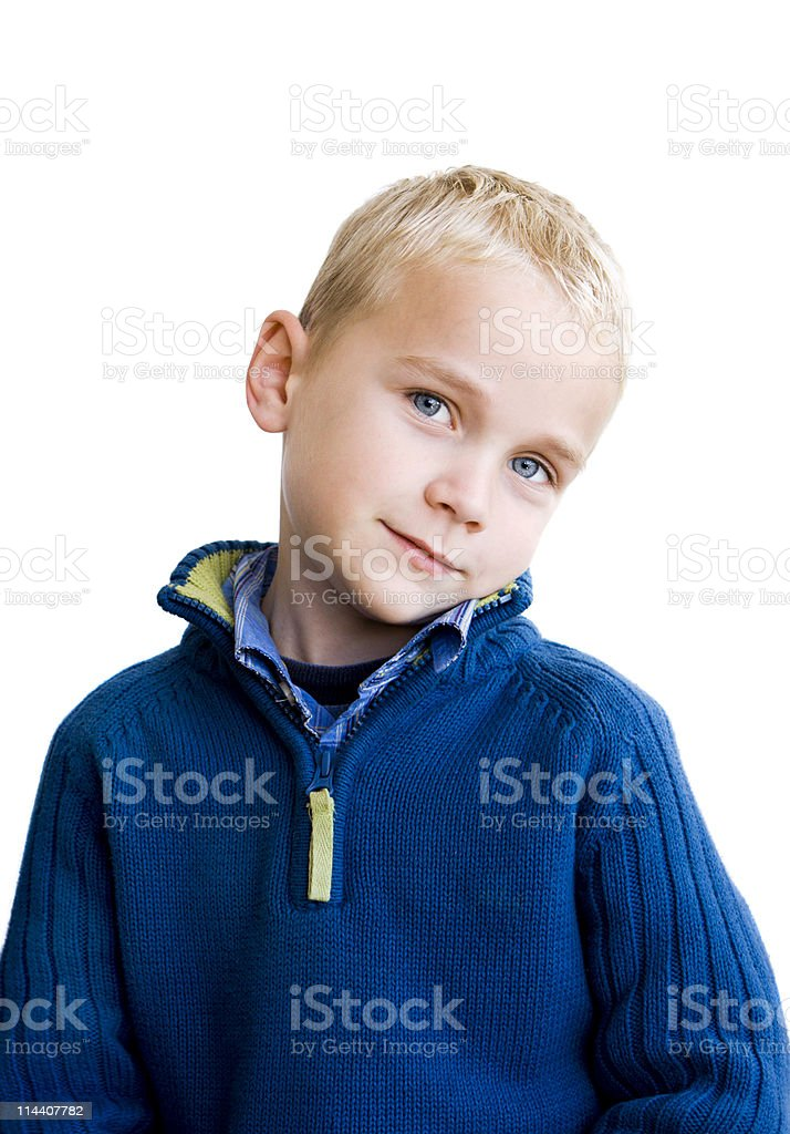 Shy Boy royalty-free stock photo