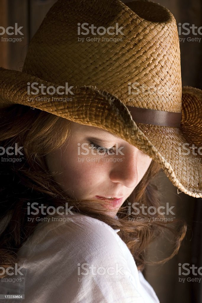 Shy Country Girl royalty-free stock photo