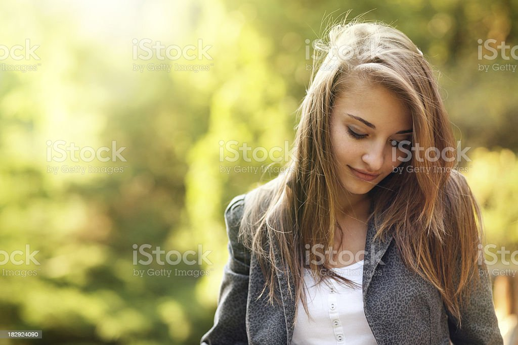 shy girl royalty-free stock photo