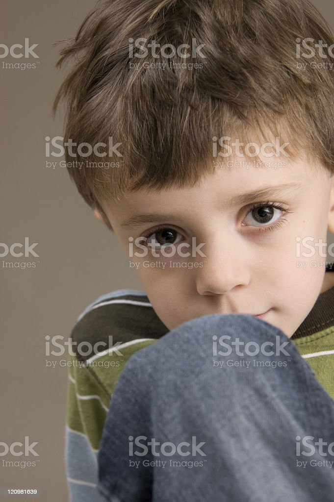 Shy Little Boy royalty-free stock photo